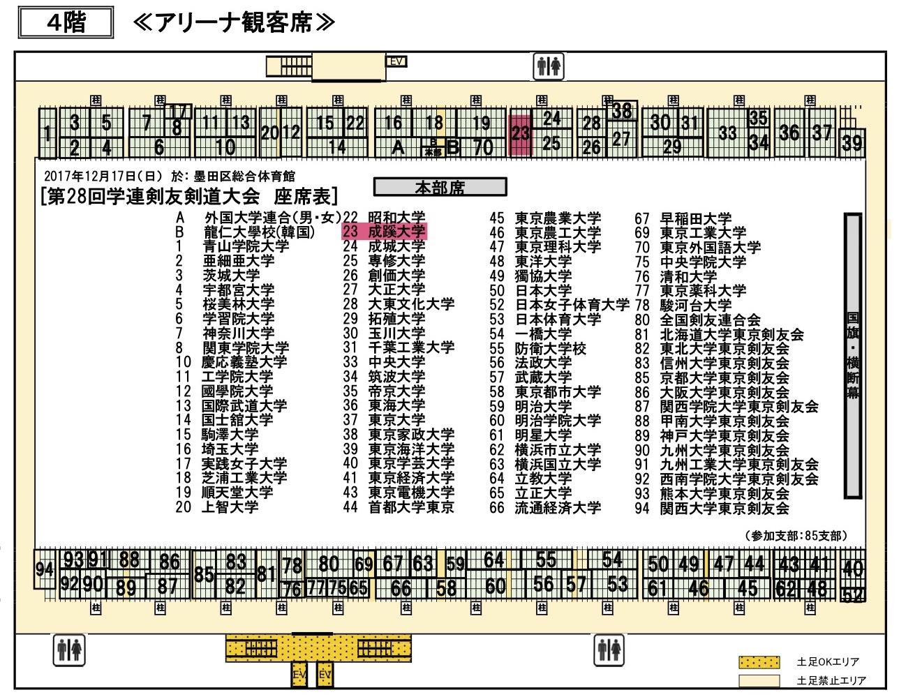 【ご案内】第28回学連剣友剣道大会情報